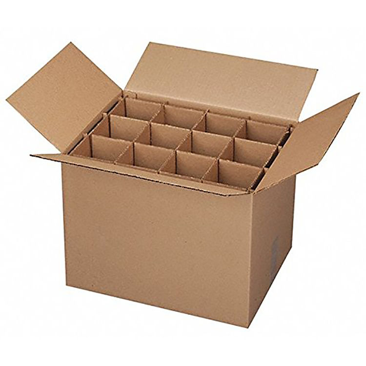 Wine or Champagne Carrier 12 Bottles Corrugated Cardboard Beer Wine box
