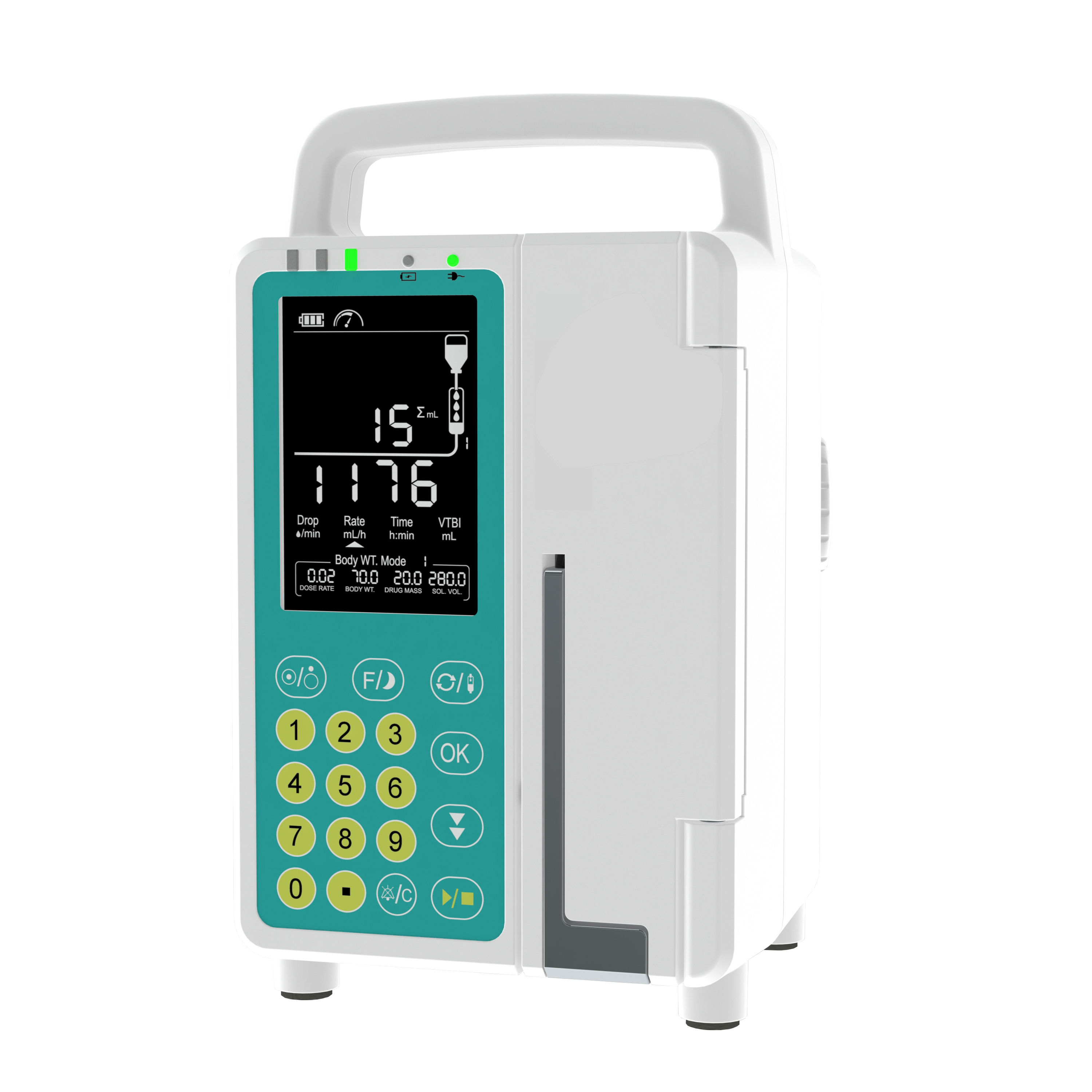 CE approved good quality portable LCD screen chemotherapy Peristaltic iv medical infusion pump for hospital