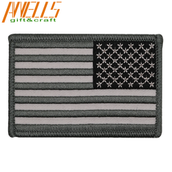 REVERSE American Flag Embroidered Patch Patriotic USA US Embroidery Patch Brand New US Flag Shoulder Patch