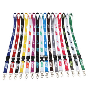 Wholesale custom bulk key id badge holder keychain sublimation nike lanyards