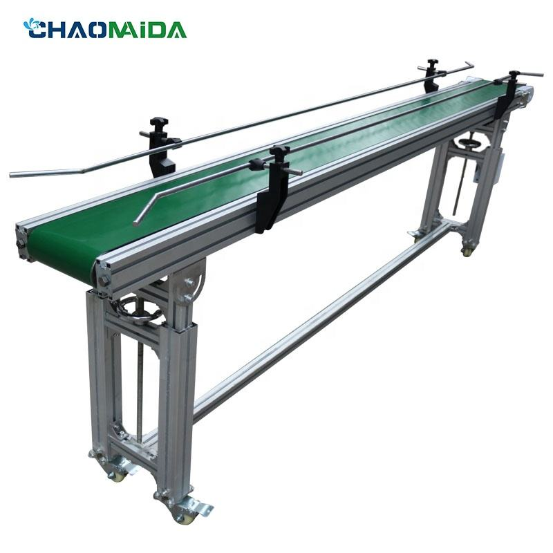 Mini customized belt conveyor 0.5m long widely used for online inkjet printers
