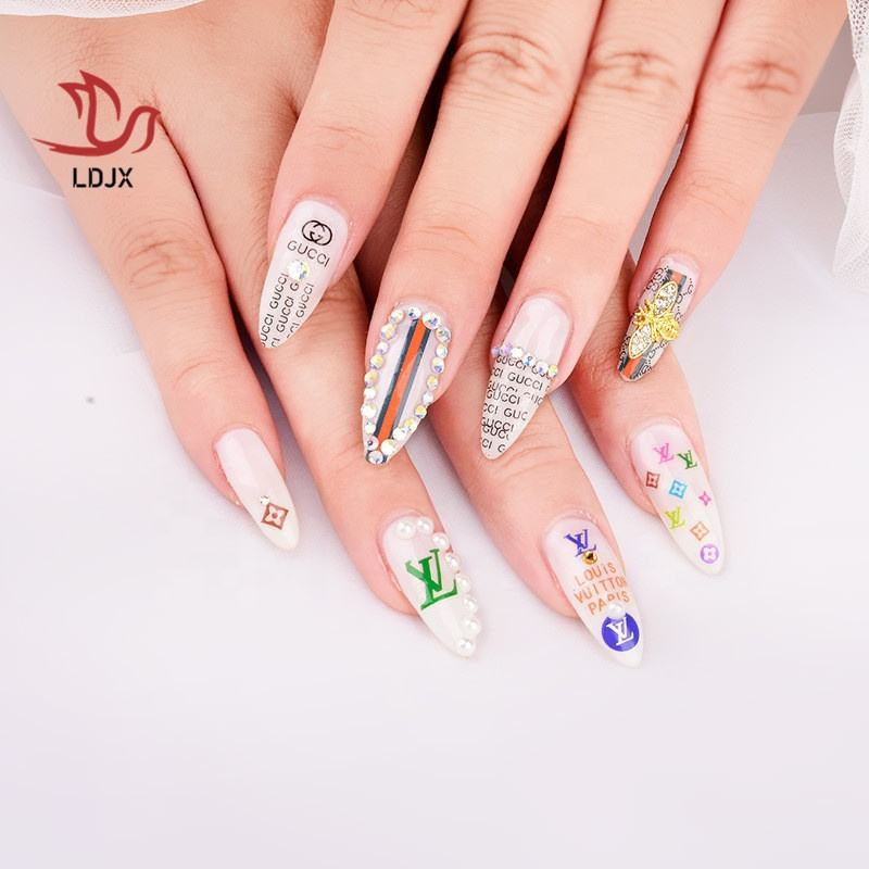 LDJX-S24 Hot Sale Logo Nail Art Adhesive Decal Sticker
