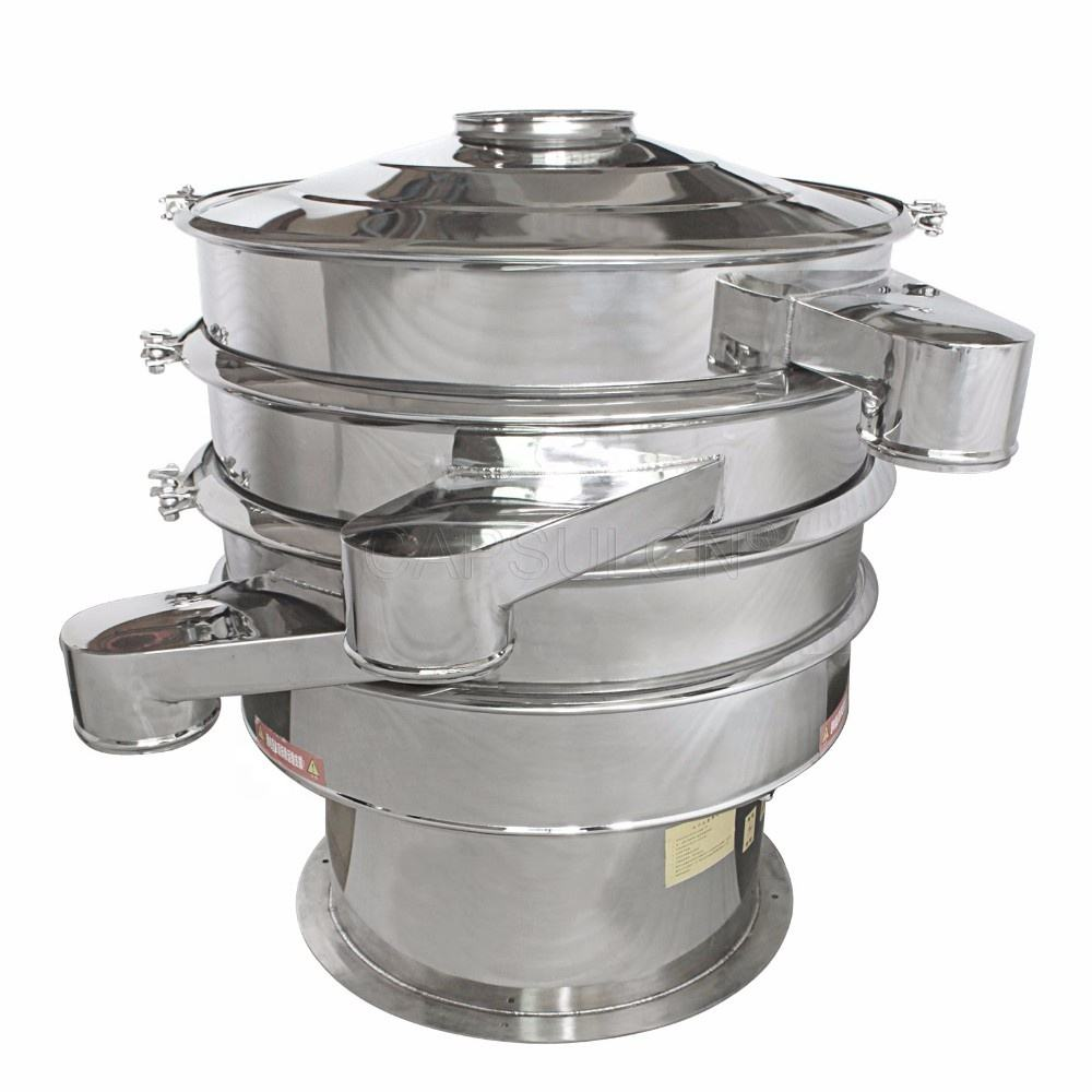 XF1000-2SS polished 304/316 stainless steel food grade rotary vibrating sifter for food plant