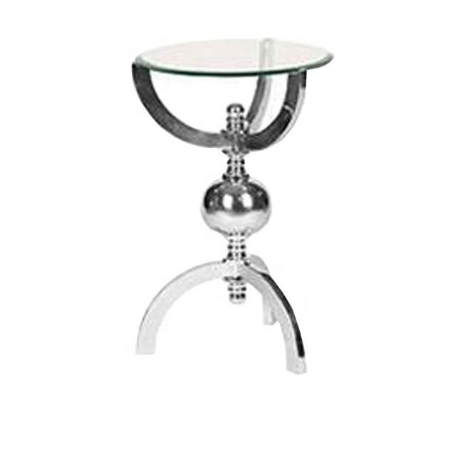 Metal Nickel Plated Table With Glass Top Exclusive Handmade Coffee Tables Supplier
