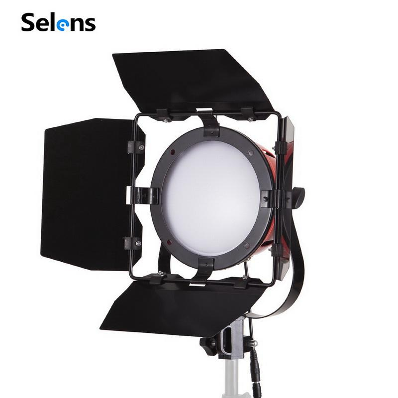 Selens 65W LED Red Head Light 5500K Daylight Dimmable Continuous Light Photo Studio Lamp納屋のドア