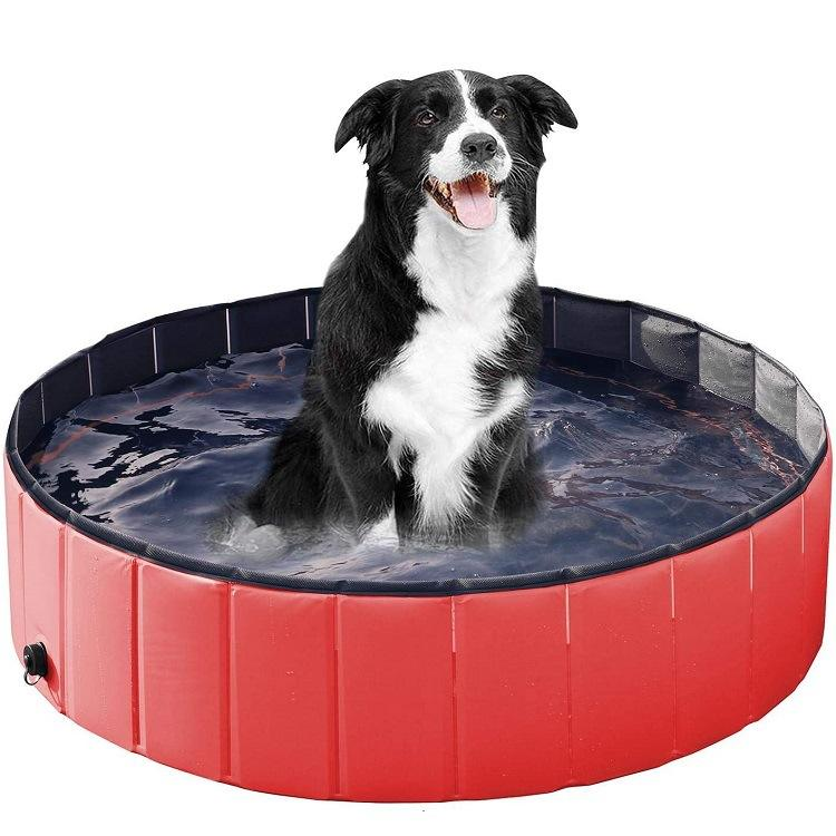 Wholesale and custom good quality outdoor dog swimming pool foldable dog pet bath pool