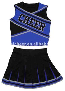 cheerleading uniforms cheerleading costumes for cheerleader with 100% heavy polyester