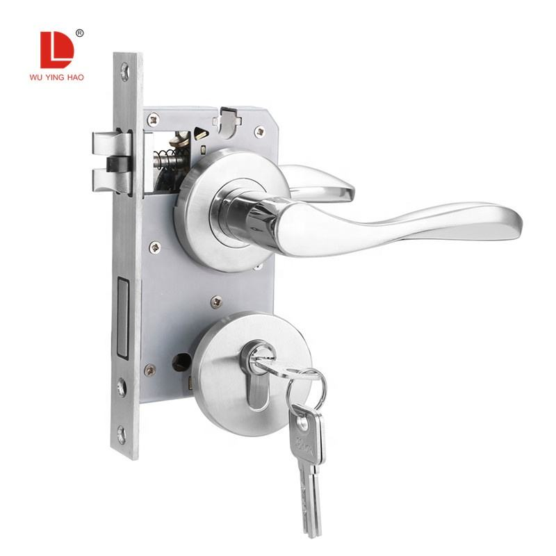 WUYINGHAO stainless steel full set lever lock door handle with lock body cylinder