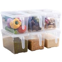 Clear Transparent High Quality Plastic Fridge Food Bins with lids Acrylic Food Case Fruit Can BPA Free