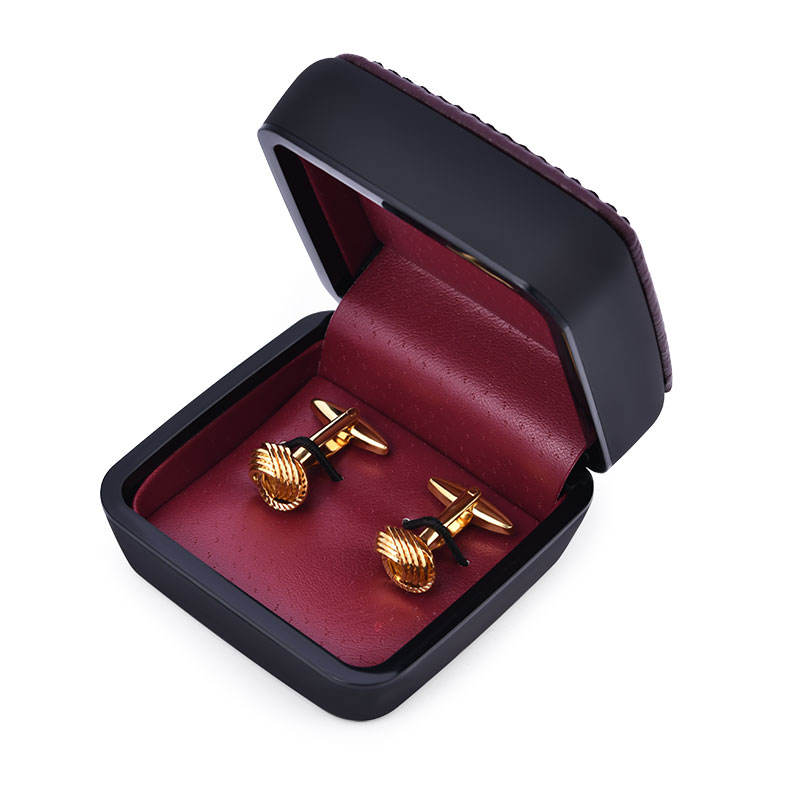 Silver and Gold Custom Engraved Logo Cuff links Make Knot Customized Cufflinks for Men