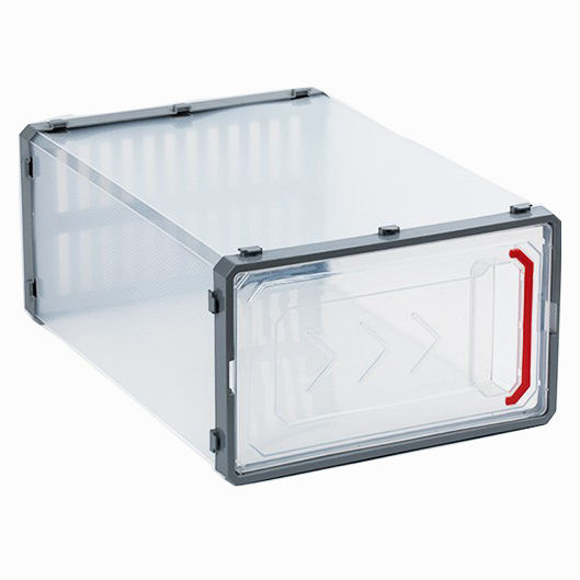 Transparent Stackable Shoe Storage box Sturdy Plastic Clear Door and Lids, Dust and Moisture Proof