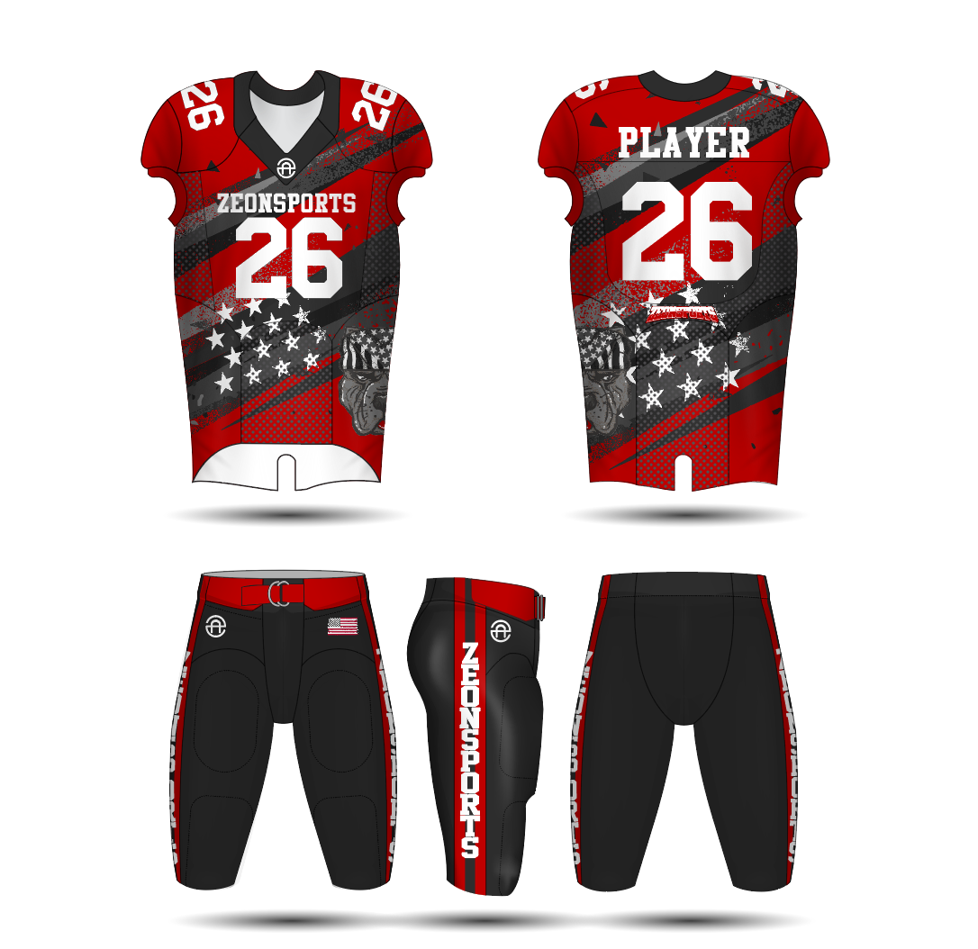custom made sublimation comfortable youth adult combat training american football jersey pants uniform