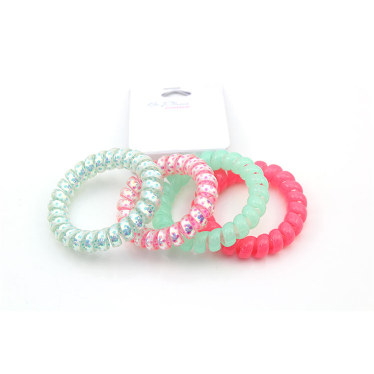 More colours! Vintage spiral telephone cord bracelet