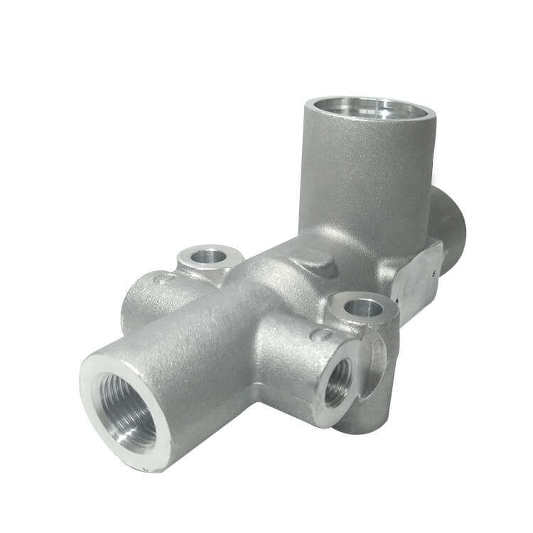 Mingdao Customized OEM precision cast aluminum A356 gravity casting valve body for high-speed rail parts machining