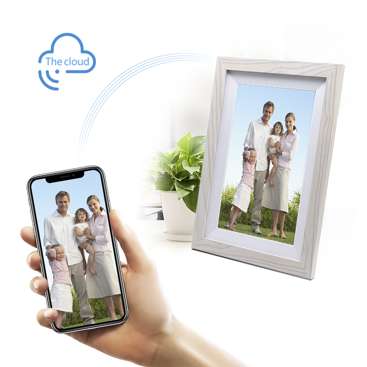 Hanging electronic video android system cloud picture frames smart 10.1'' inch wifi digital photo frame for home family