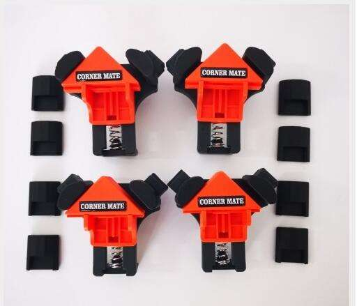 4PCS Multifunctional 90 Degree Corner Clamp Woodworking Corner Clip Fixer Hand Tools Right Angle Clamp