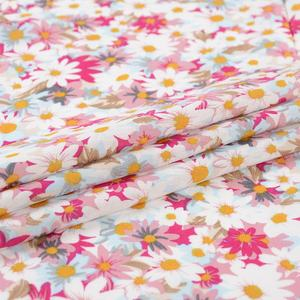 Manufactory wholesale ready made trendy multicolor flower breathable rayon garment printed fabric for gown