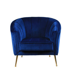 Moderno venta al por mayor de muebles sofá Lounge piernas de oro rosa de terciopelo de bañera de sillón moderno