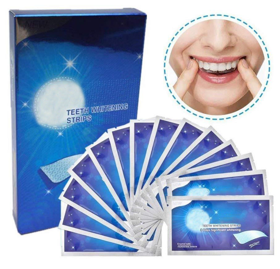 28Pcs/14Pair Oral Hygiene Care Advanced White Gel Private Label Home Dental Teeth Whitening Strips
