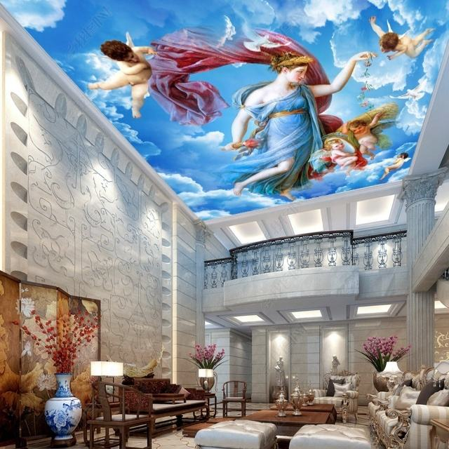 3d sky design wallpaper mural for ceiling
