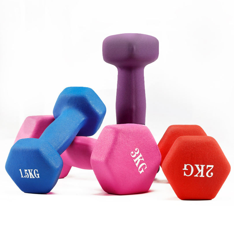 1kg Basics Neoprene Dumbbell Hand Weight/fitness/yoga/best tool for loss your weight/thin arm
