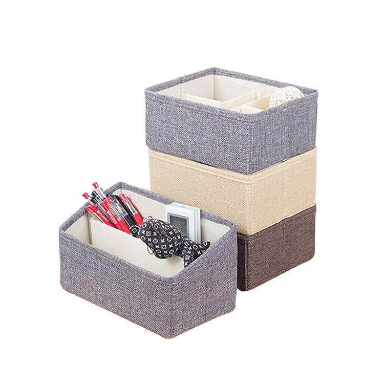 Desktop receiving box creative small material cloth art finishing storage basket receiving box