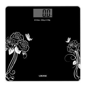 Max.180kg 6MM Tempered Glass Electronic Bathroom Scale Human Beauty Digital Bathroom Scale Electronic Weighing Scale
