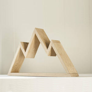 Rustic Mountain Wooden Wall Decoration Floating Shelf