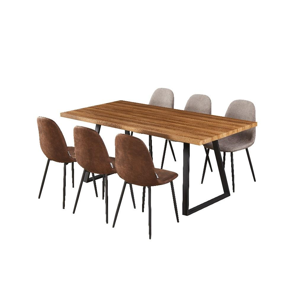 Best Reviews Dining Table Set Creative Restaurant Group 6/8/10 Seater Wooden Dining Table Set