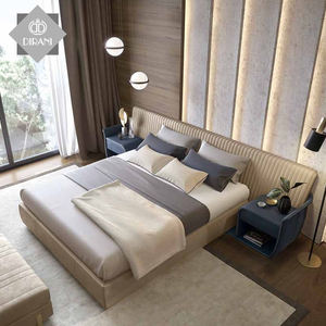 Italian Latest Double King Size Bed Bedroom Furniture Modern Luxury Micro Fiber Leather Bed Room Furniture Bedroom Set