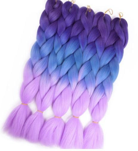 Ombre Color Jumbo braids extension synthetic hair weaves crochet synthetic braiding hair