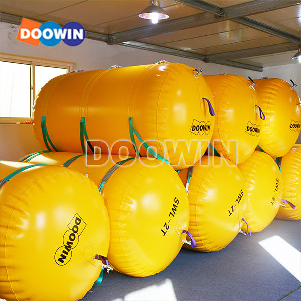 Inflatable Pontoon Dock Apung Laut Penyelamatan Pelampung Air Lift Tas