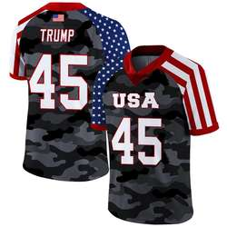 Sublimation American Flag Style, Trump#45 American Football