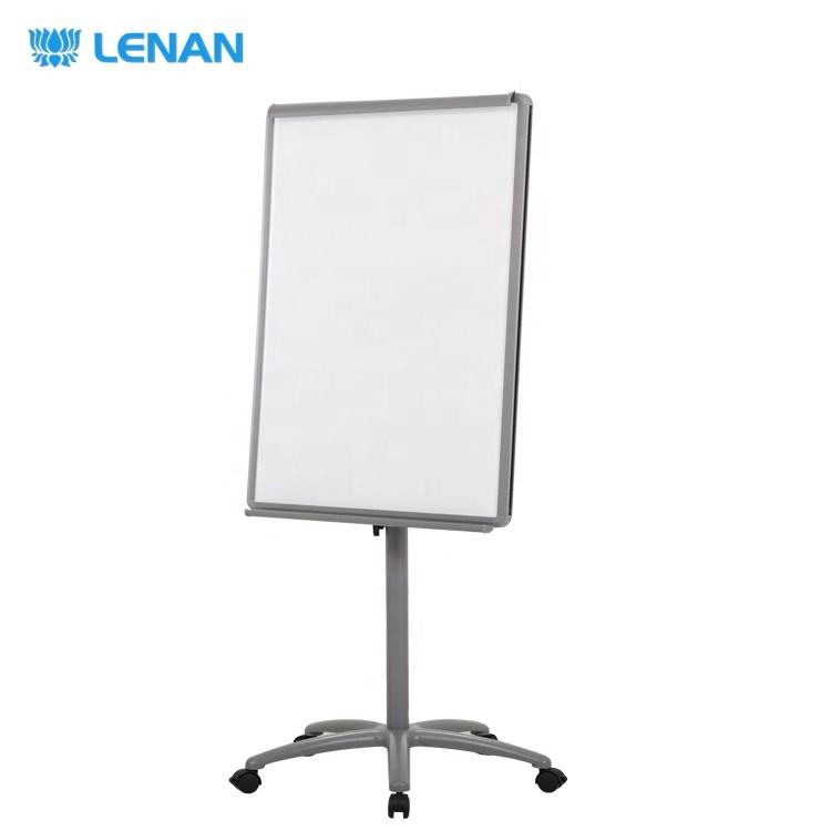 70*100CM Standard Size Magnetic Writing White Board Office Top Quality Mobile Flip Chart Board with Wheel