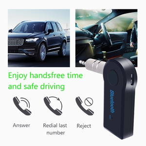 Mini 3.5mm Wireless bluetooth car kit Aux Stereo Audio Adapter handsfree stereo music car bluetooth receiver