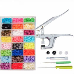 360 sets of high-grade box T5 resin Snap button + hand press pliers wholesale buttons