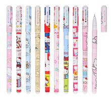 wholesale in stock OEM  office  cute slim korea kawaii stationery gel ink pens set for school  children