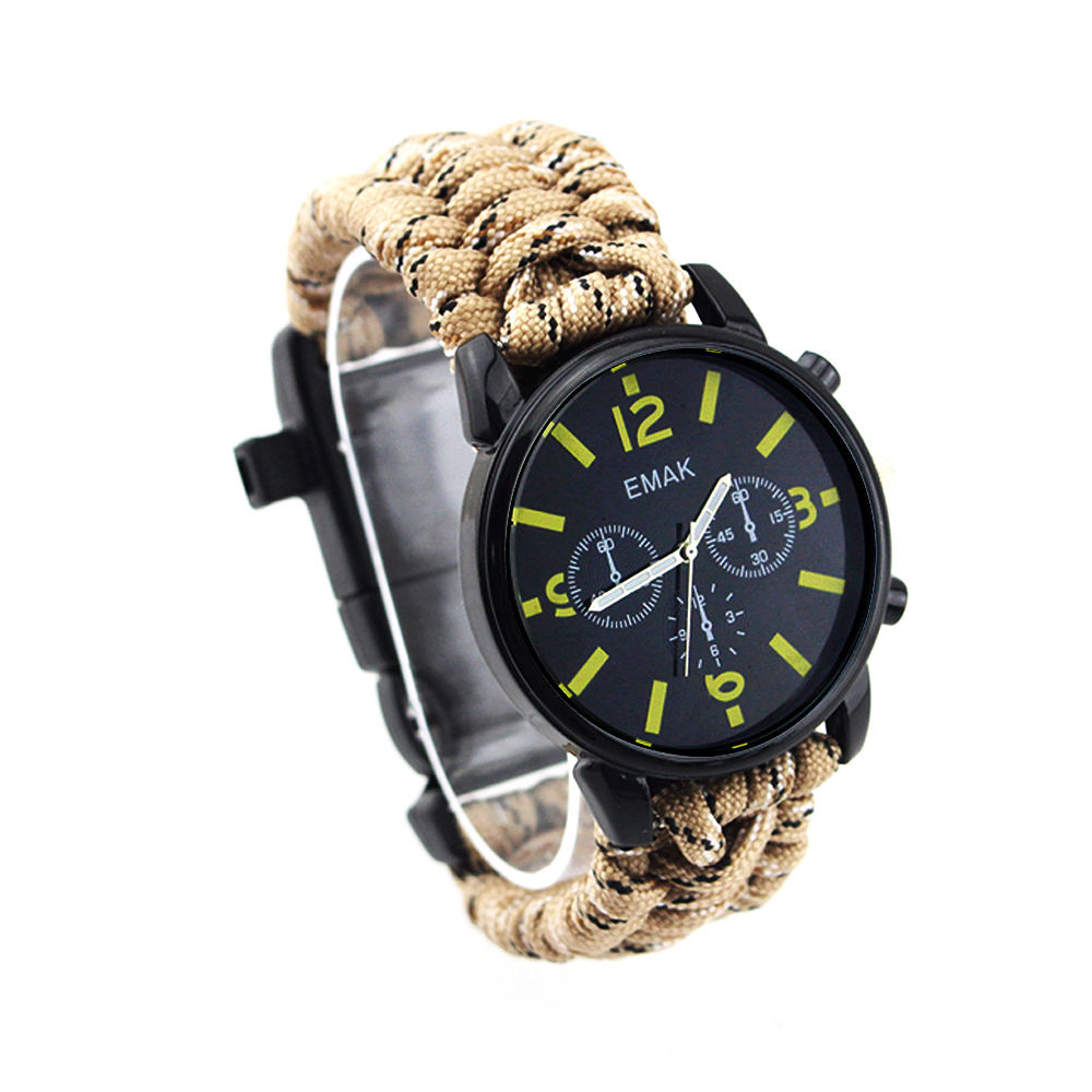 Fashion Paracord 550 Rope Army Watch Desert Luxury, Gift Items Camping Product Tactical Watch