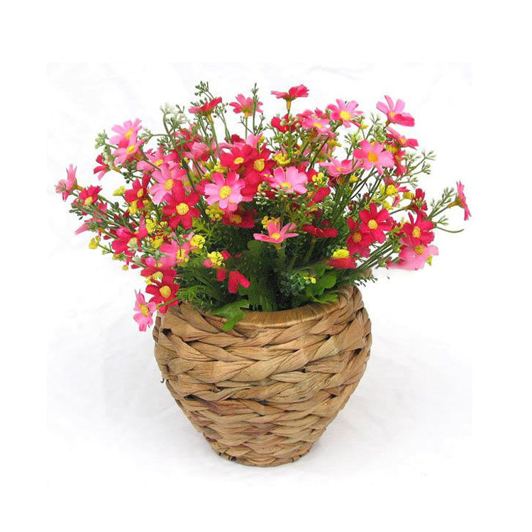 Handmade water hyacinth flower vases for hotels