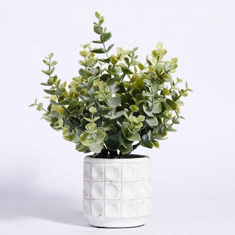 W-3059 Wholesale Hot Sale Artificial Eucalyptus Potted Plants