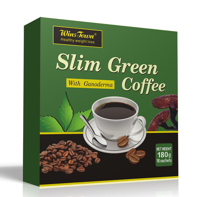 Wins Town healthy weight loss slim green coffee with ganoderma