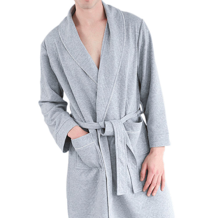 knitted animal egyptian cotton bathrobe for adults