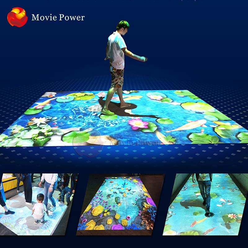 Affordable Cost Holographic Interative Floor Projection Makes Kids Customers And Visitors Smile interactive Projector