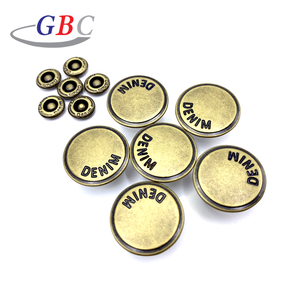 2020 GBC custom logo metal jeans button for denim clothing