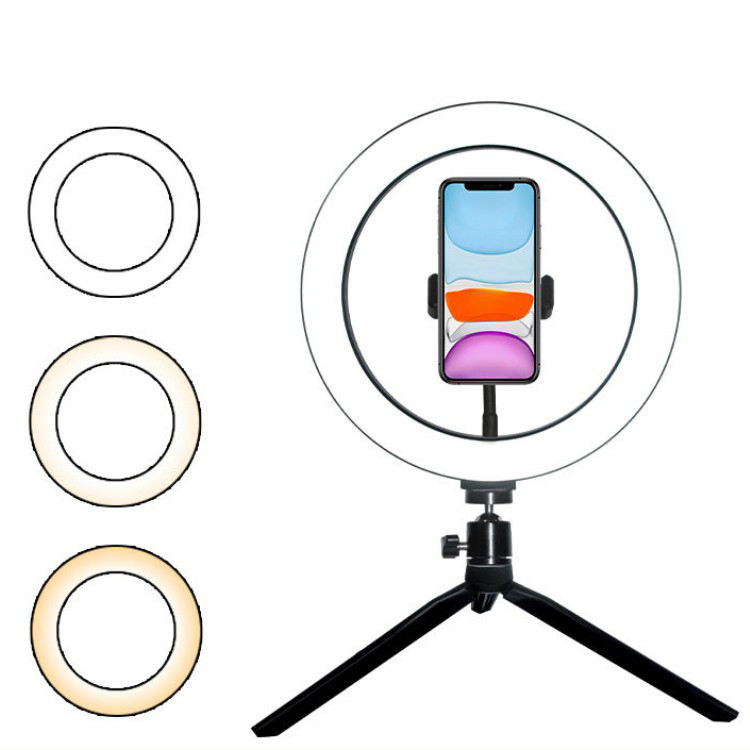 LED Ring Light Dimmable Ringlight 2700K-7000K Photography makeup Ring Light Lamp with table tripod stand