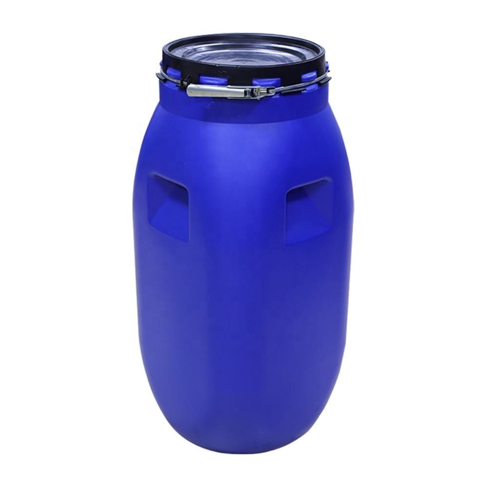 110L plastic barrel square jerrycan HDPE blue bucket open top 110 KGS drum customized 110 liters tank chemical food water