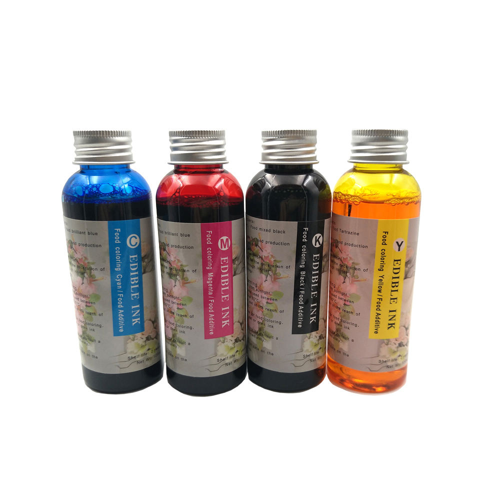 color Edible Ink For Canon Printer For Cake Chocolate coffee & food printer