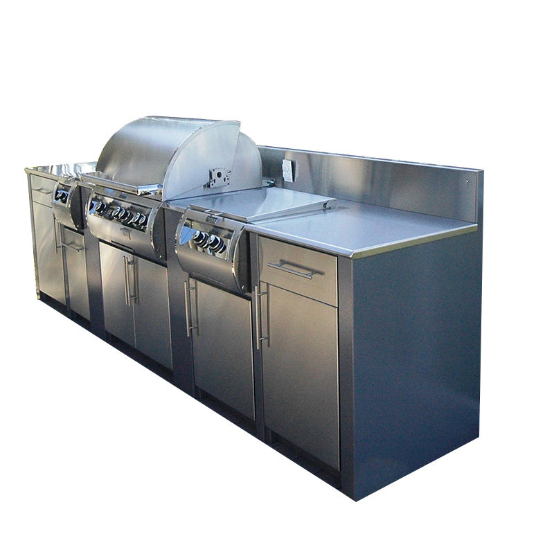 Wholesale BBQ Barbecue stainless steel outdoor kitchen cabinets island grill
