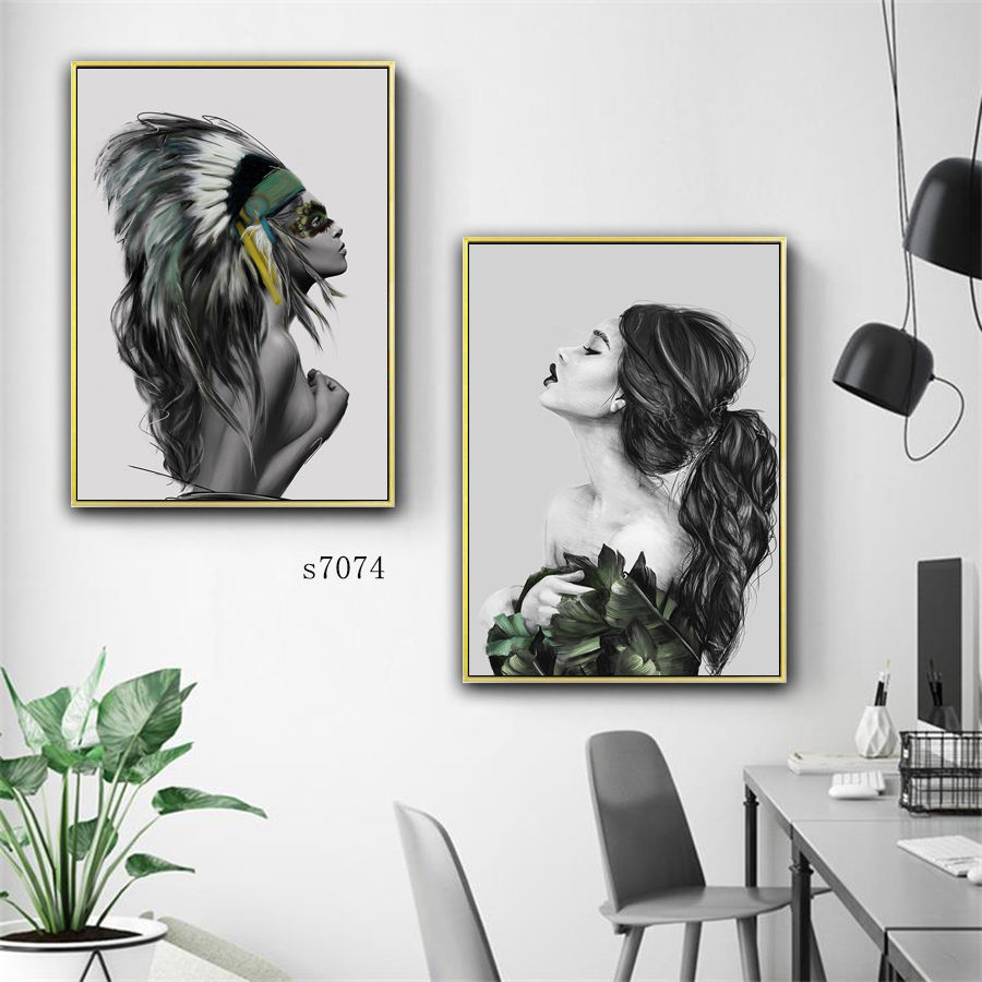 Wholesale Custom Oil Painting Shaped Canvas Wall Decor Art Set