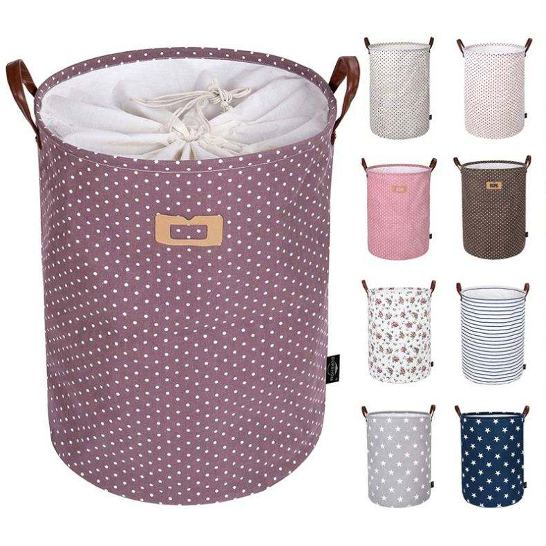 Cheap Round Foldable Fabric Cloth Laundry Basket Laundry Bag Basket